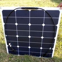Rg Sunpower Гибкая солнечная панель 55 w; монокристаллическая полугибкая солнечная панель 55 w; солнечная батарея 21.5% эффективность зарядки