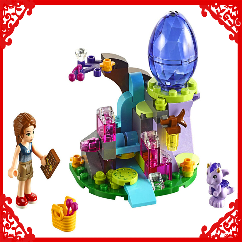 Elves Emily Jones & Baby Wind Dragon Model Building Block Toys Compatible Legoe BELA 10499 83Pcs Educational Gift For Children 809pcs new 10415 elves azari aira naida emily jones sky castle fortress building block toys
