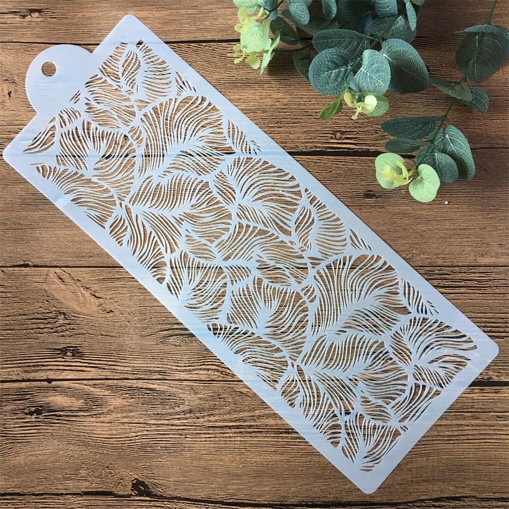 44cm Flower Leaf Texture DIY Layering Stencils Painting Scrapbook Coloring Embossing Album Decorative Paper Card Template