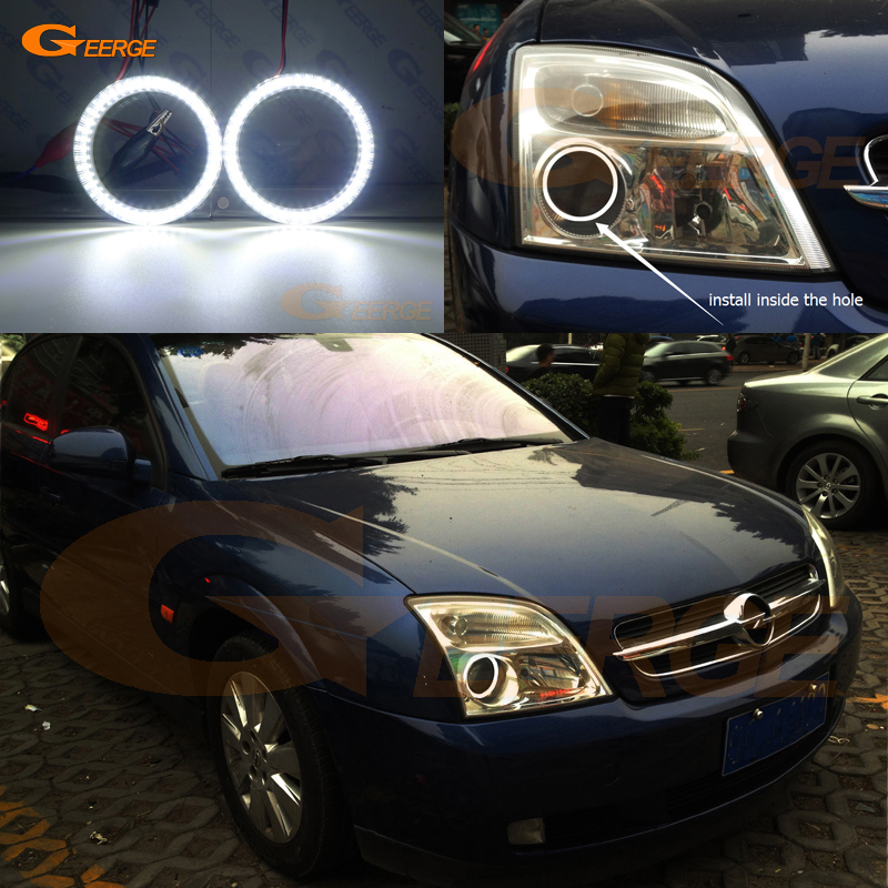 цена на For Opel Vectra C 2002 2003 2004 Excellent Angel Eyes Ultra bright illumination smd led Angel Eyes Halo Ring kit