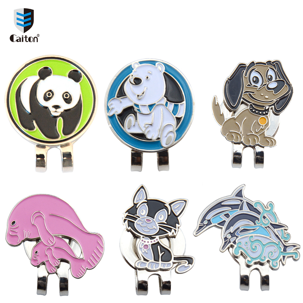 Caiton Cute animal Golf Ball Markers with Magnetic Hat Clip Golf Accessories-in Golf Training Aids from Sports & Entertainment