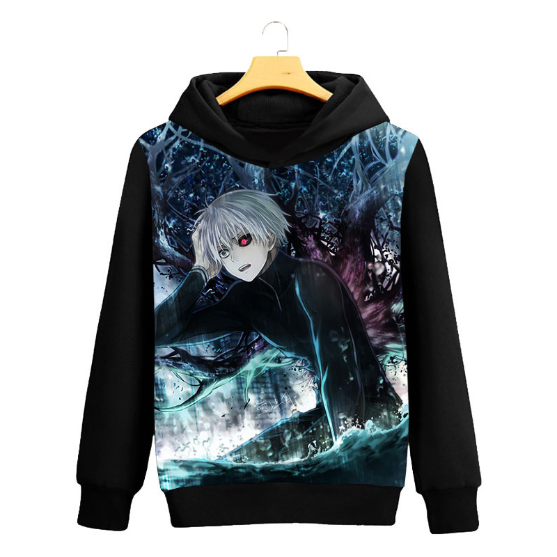Tokyo Ghoul Cosplay Hoodie Ken Kaneki 3D Printed Casual Long Sleeve Men Spring Hip hop clothing Tops Luxtees (7)