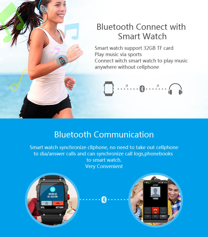 Advertisement - LEMFO V18 GPS Smartwatch Support File management Sleep monitor Sedentary reminder Pedometer Smart Watch for IOS and Android