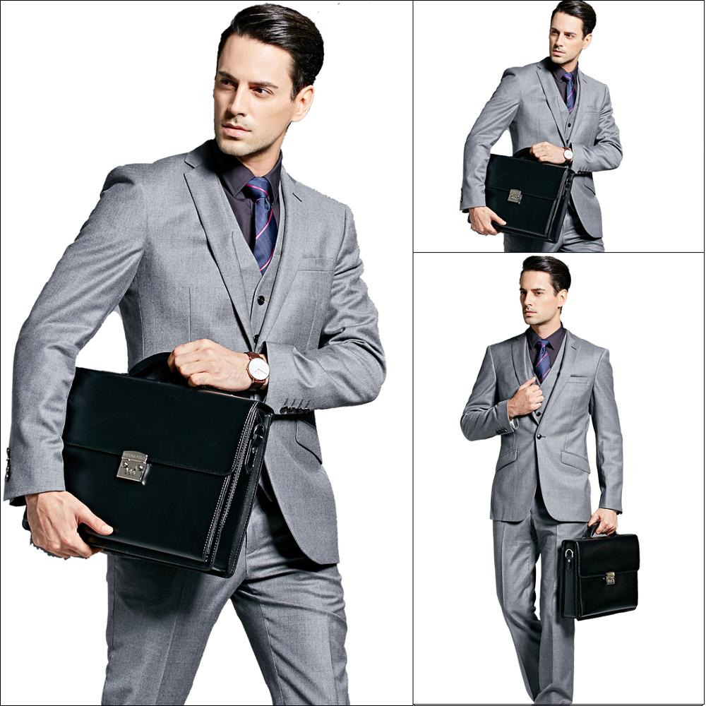 Image 2 - VICUNA POLO Luxury Business Mens Briefcase With Code Lock High Quality OL Business Man Bag Italy Brand pasta executiva masculino-in Briefcases from Luggage & Bags