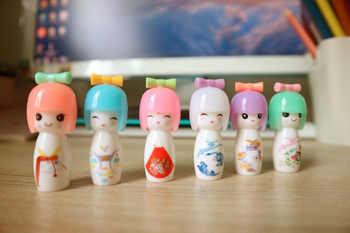 72pcs Cute Pen Kawaii Kimono Doll Gel Pens for School Students Office Writing Girl Gift Stylo Creative Stationary
