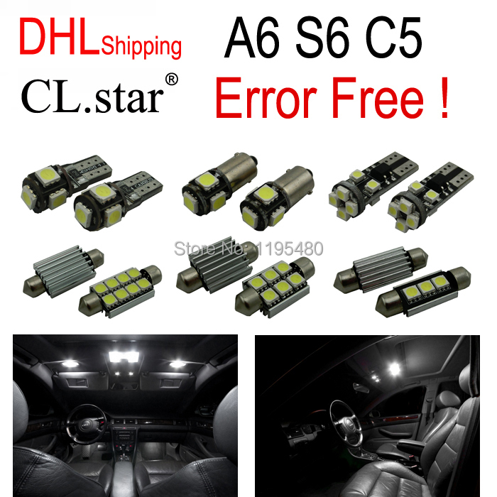 24pc X DHL shipping canbus Error Free for Audi A6 S6 C5 LED Interior Light Kit Package (1998-2004) free shipping 60 17x a4 s4 b5 1998 2001 white led lights interior package kit canbus