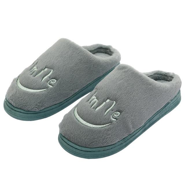 women smile cartoon slippers lovers warm woman slippers lady plush