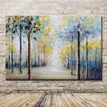 Mintura Kunst Große Größe Hand Bemalt Bäume Landschaft Ölgemälde auf Leinwand Moderne Wand Bilder Für Wohnzimmer Dekoration