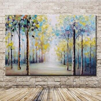 Mintura Kunst Große Größe Hand Bemalt Bäume Landschaft Ölgemälde auf ...
