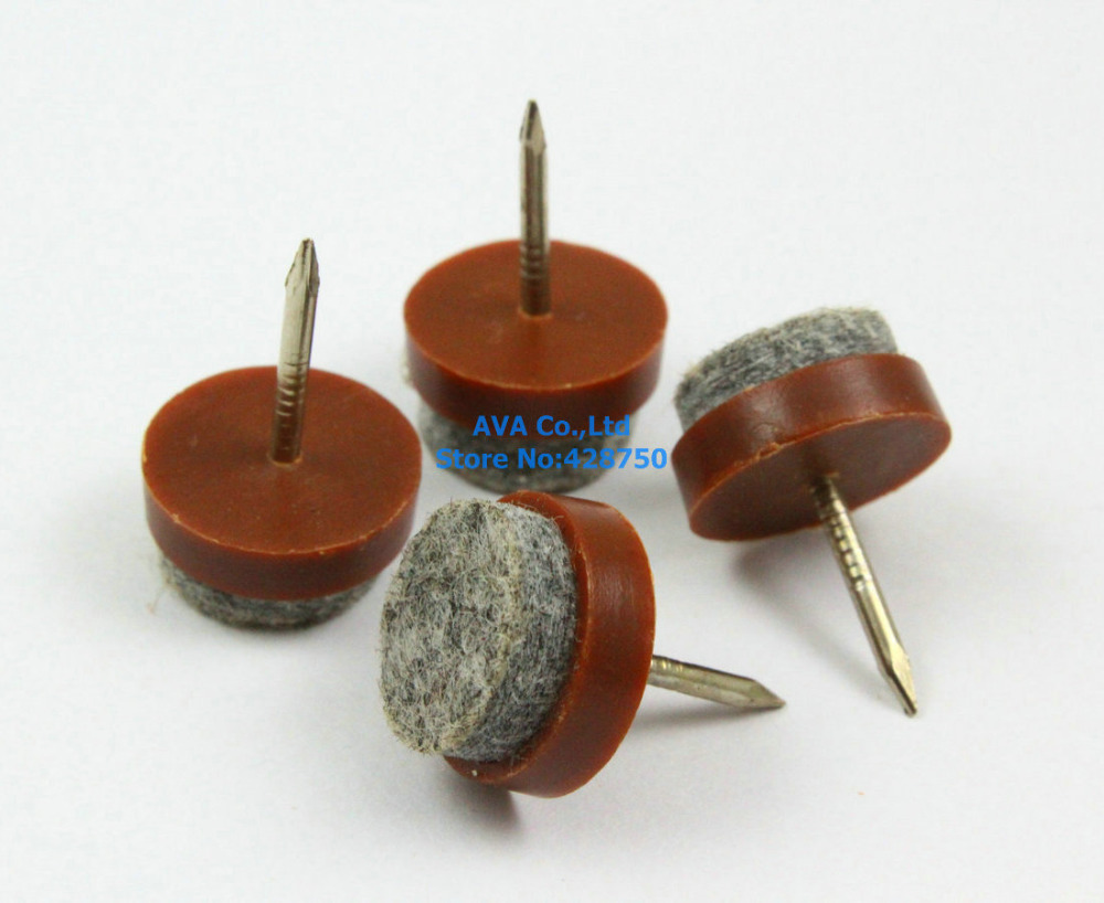 Aliexpress 40 Pieces 15mm Brown Chair Felt Glide Nail