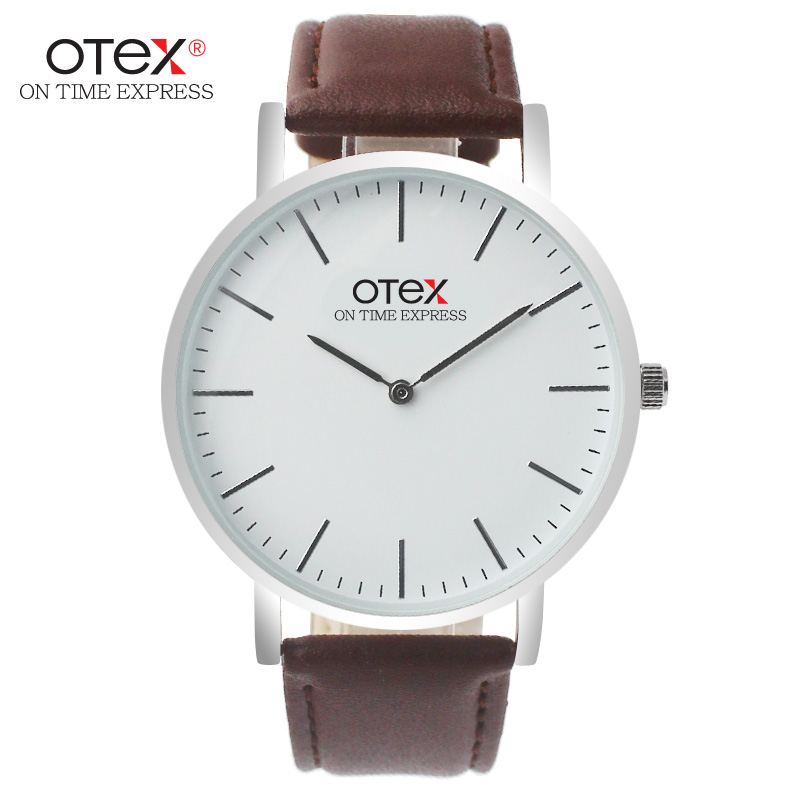 OTEX Simple Ladies Watches Top Luxury Brand Leather Strap Women Quartz Watch Ladies Bracelet Watch For Wome Females Wristwatch