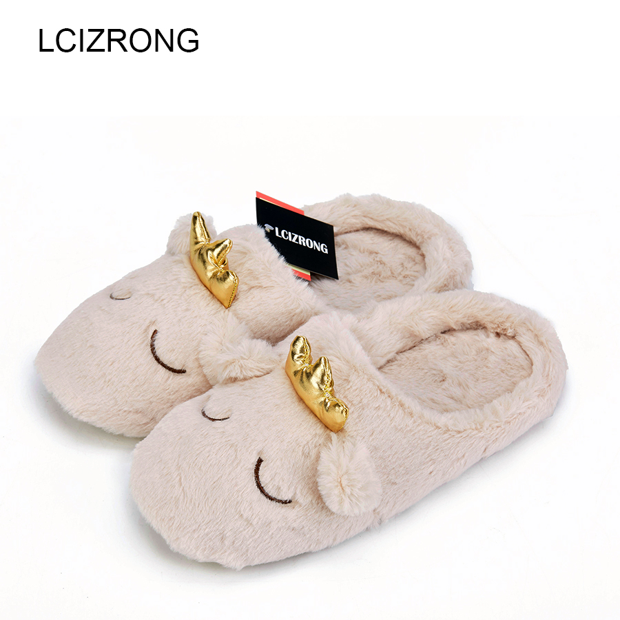 LCIZRONG Women 3D Sheep Slippers Soft Cotton Home Slippers Indoor Floor Family Warm Animal Shoes Plush Covered Male Pantoufle 2017 totoro plush slippers with leaf pantoufle femme women shoes woman house animal warm big animal woman funny adult slippers page 6