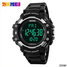 skmei wrist watch heart rate monitor sport LED 30M Waterproof Digital Clock for Women Men kids