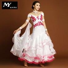 Highest grade !!2016 Ballroom Dance dress Woman Modern Waltz Tango Dance dress/standard Ballroom Competition Dress MY729
