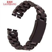 Liaopijiang Con relojes inteligentes 360 alternativa reloj de acero inoxidable con 22mm de la tira de acero