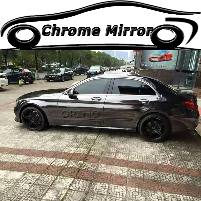 High Gloss Black Chrome Vinyl Wrap For Car Wrapping Sticker Film Air Bubble Free Size 1