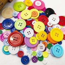 50 шт. 9/11/15/20/25/30 мм в диаметре, различные Цвет пальто Пластик кнопка с 4 отверстиями прошитая вручную PT182
