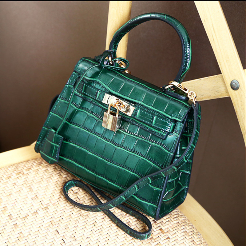 Women socialite designer mini black green silver alligator crocodile  satchels casual totes handbags messengers shoulder bags F50 1543efebdeb5e