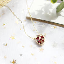 Hot Sale Sailor Moon Ami Regresa Metal Anime Pendant Necklace Cosplay Crown Heart Shaped Girls Jewelry Accessories(China)