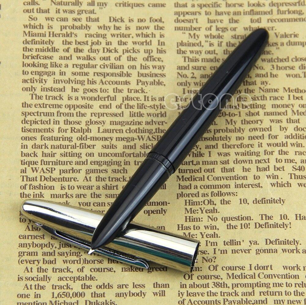 Black Vintage Classic Fountain Pen Hero 366 Fully Hooded Fine Nib genium hero 100 pen total steeless 14k golden fine nib fountain pen