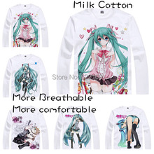 Lines of vocaloid girls T-shirt Hatsune Miku Luka Megurine Rin Kagamine cute gro
