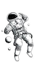 Waterproof Temporary Fake Tattoo Stickers Astronaut Planet Design Body Art Make Up Tools
