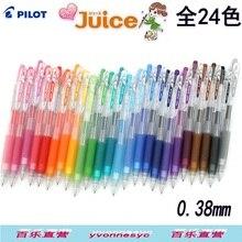 24 cores suco Piloto caneta unisex 0.38 milímetros ressuscitar caneta lju 10uf 24 pçs/lote