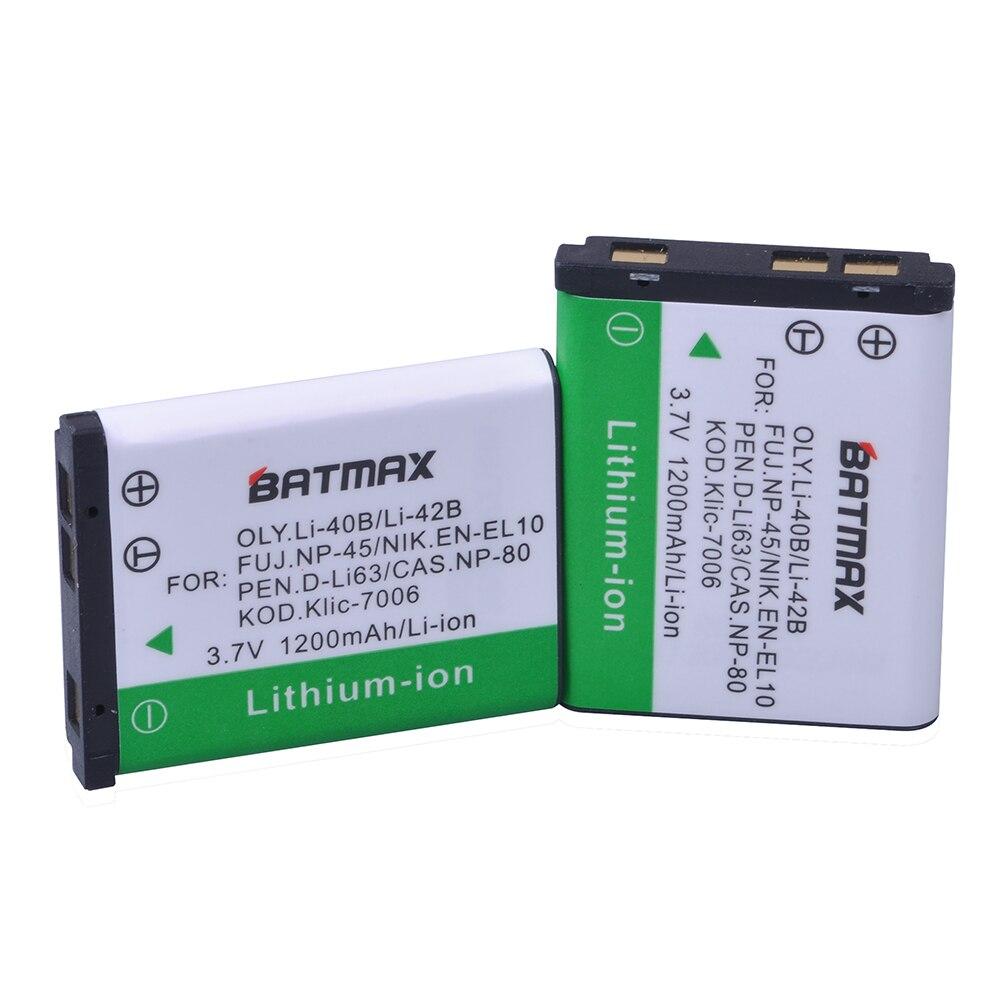 BATTERIA 2x per Canon bp-51165009PowerShot g5 g6 EOS 10d 50d d60 mv700 750 mvx3i