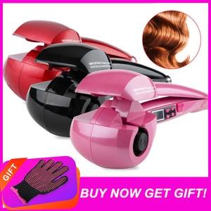 Image 1 - Nowy ekran LCD automatyczne kobiety lokówka do włosów grzejnik ceramiczny fala narzędzia do stylizacji włosów pielęgnacja włosów Curl magiczne loki żelazny fryzjer