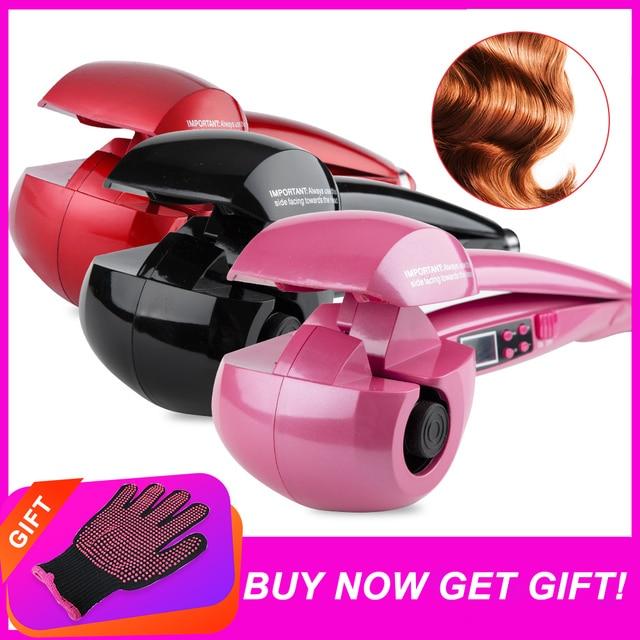 Nowy ekran LCD automatyczne kobiety lokówka do włosów grzejnik ceramiczny fala narzędzia do stylizacji włosów pielęgnacja włosów Curl magiczne loki żelazny fryzjer