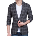 high quality fashion men blazer masculino jaqueta masculina slim fit blazers outwear M-5XL CYG119