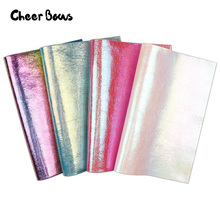 22*30CM Synthetic Leather Rainbow Burst Crack Metal Faux Fabric DIY Hair Accessories Garment Decorative Materials