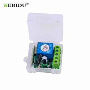 Image 5 - KEBIDU 433 Mhz Remote Controls RF Transmitter with Universal Wireless Remote Control Switch DC 12V 1CH relay Receiver Module