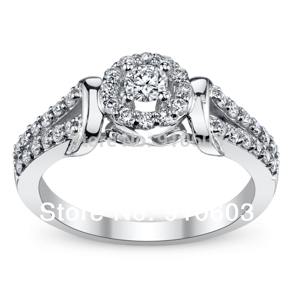 Cherish 9K White Gold Diamond Engagement Ring 025 Carat ASCD Lab