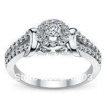 Cherish 9K White Gold Diamond Engagement Ring 0.25 Carat ASCD Lab Grown Diamond Female Ring Special Style Design Ring For Women(China)