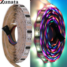 1m 5m DC5V LED Strip SMD 5050 Waterproof Flexible Ribbon Tape 32Leds/m WS2801 32IC Led Strip Light for Outdoor Indoor Decor neoteck 1m led rgb strip color changing usb tv background lighting smd 5050 waterproof led ribbon tape for indoor outdoor decor