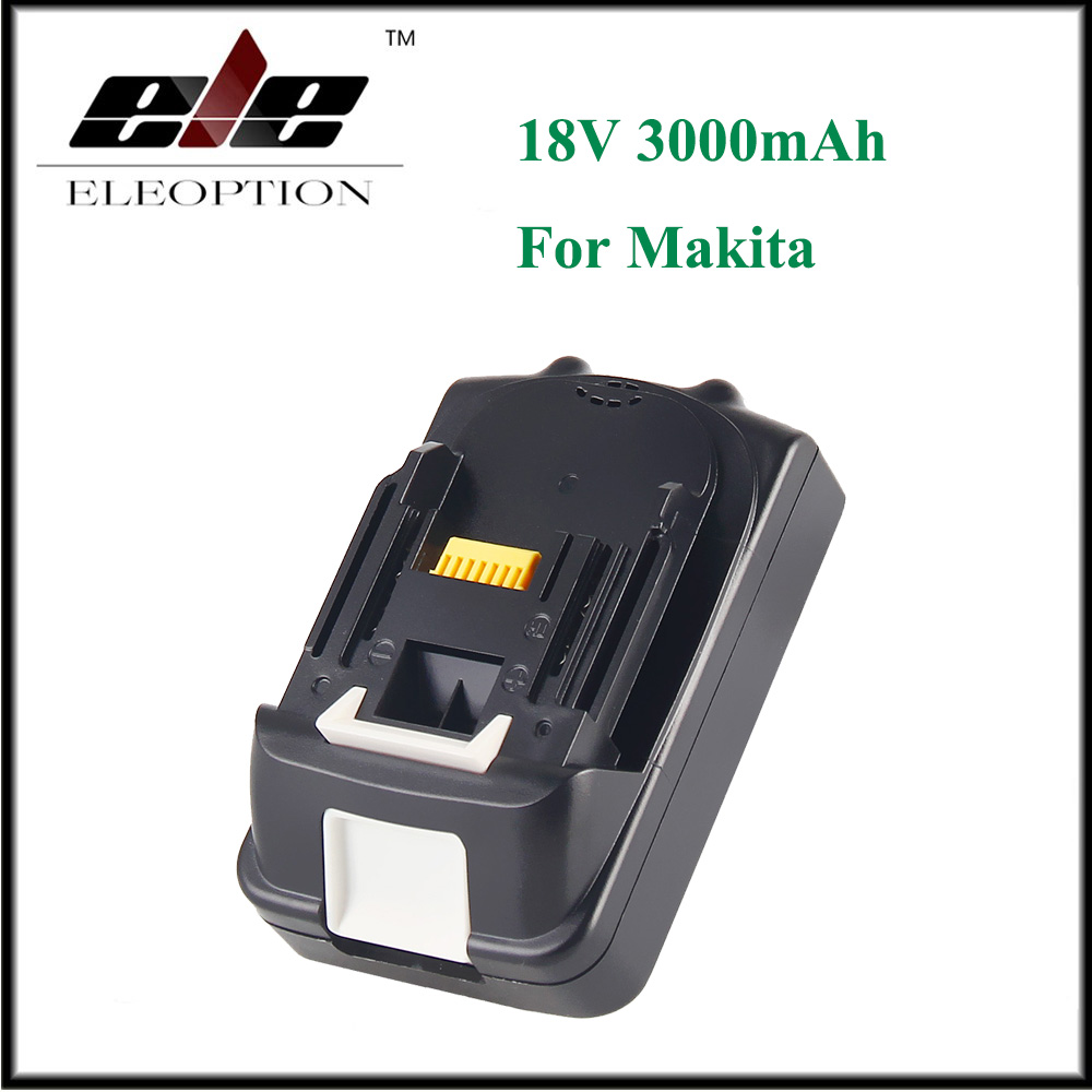 ELEOPTION 18V 3000mAh Li-ion Replacement Power Tool Battery for Makita BL1815 BL1830 BL1835 194205-3 194309-1 eleoption for makita 18v 3000mah power tool battery pack for bl1830 bl1840 recharegeable battery cordless drill li ion batteries