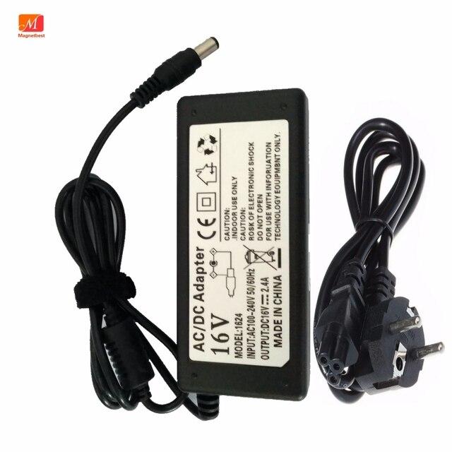 16โวลต์AC DCอะแดปเตอร์สำหรับYamahaแป้นพิมพ์PSR S650 S550 PA 300C PSR 500 Tyros4แหล่งจ่ายไฟชาร์จ16V2. 4A