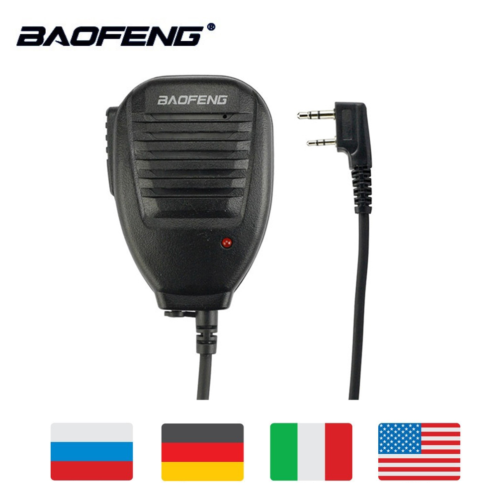 Baofeng Two Way Radio Walkie Talkie Handheld Microphone Speaker MIC For UV-5R Pofung UV 5R UV-B5 UV-B6 BF-888S BF-666S