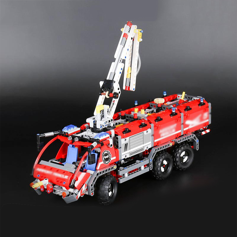 Lepin 20055 City Technic Mechanical Fire Accident The Rescue Vehicle Building Blocks Bricks Educational Toys For Children Gifts hot city fire rescue ladder engine truck building block fireman figures bricks educational toys for children gifts