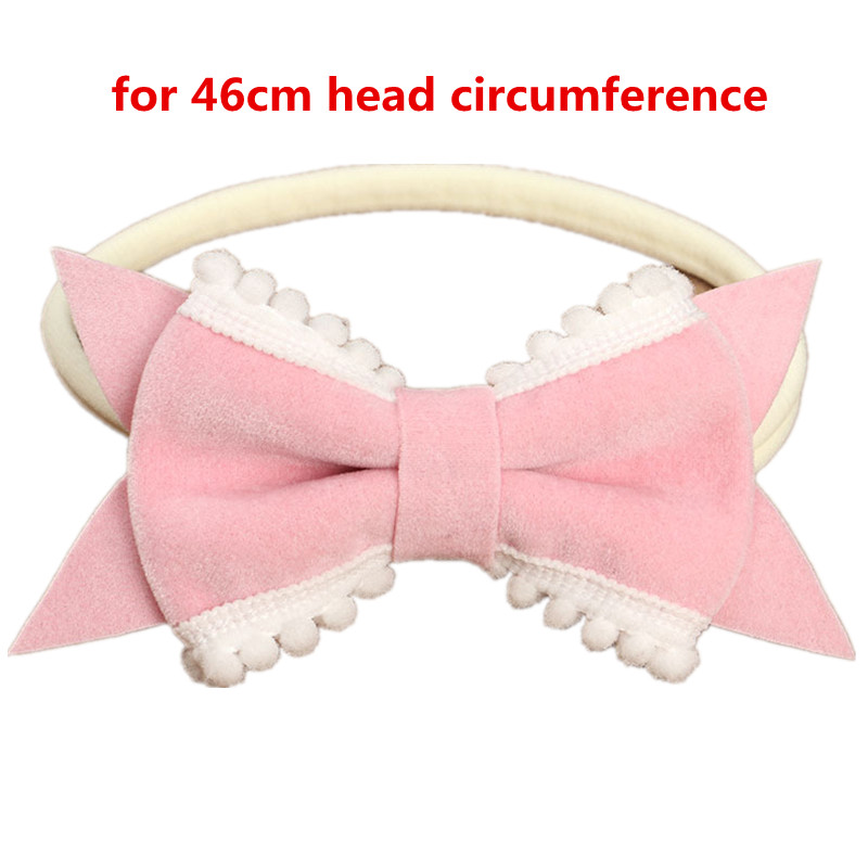 Brand-new Baby Red Tooth Bow Lovely Headband Kids Newborn Pink Hair Bows  MP64