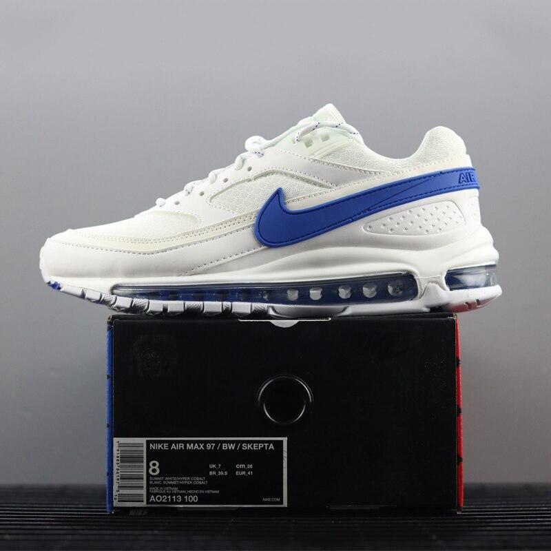 info for ef8d9 c1d7d ... que asegurarse sobre que antes de sobornar un Nike Air Max 97 BW X  Skepta zapatos corrientes de los hombres, blanco y rojo, absorción de choque  ligero ...