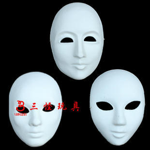 White mask pulp mask diy doodle variegating hip-hop mask male Women thick