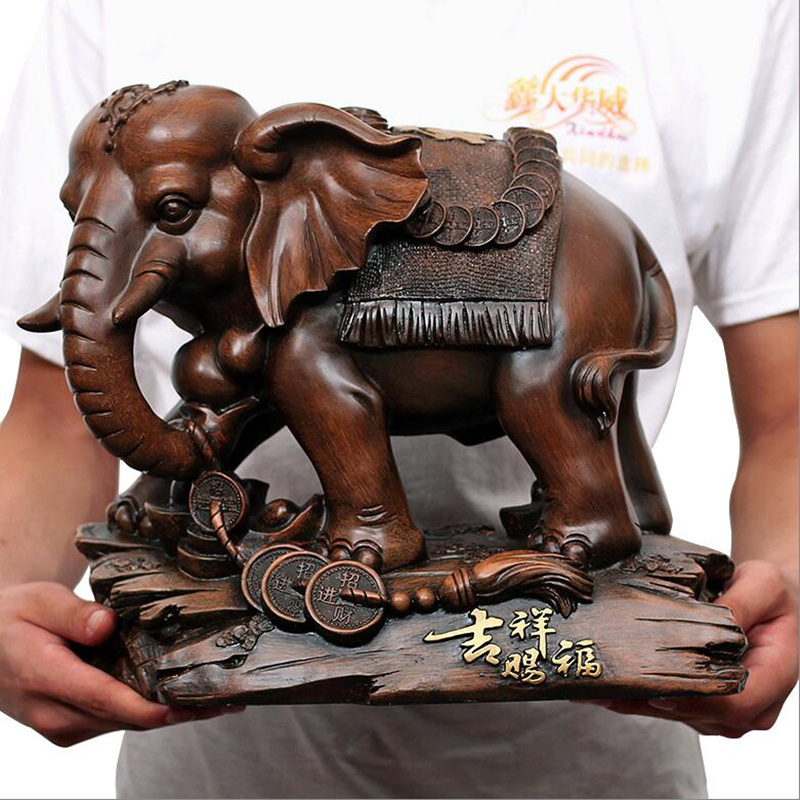 European Luxury  Resin Elephant Crafts Animal Ornaments Creative Home Furnishing Office Decoration Auspicious Wedding Gift