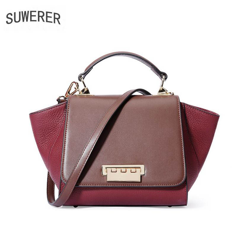 2018 New women bag superior leather brands women leather handbags quality cowhide fashion Stitching women handbags shoulder bag beep 2018 new superior cowhide fashion women genuine leather bag simple women leather shoulder bag women s bag
