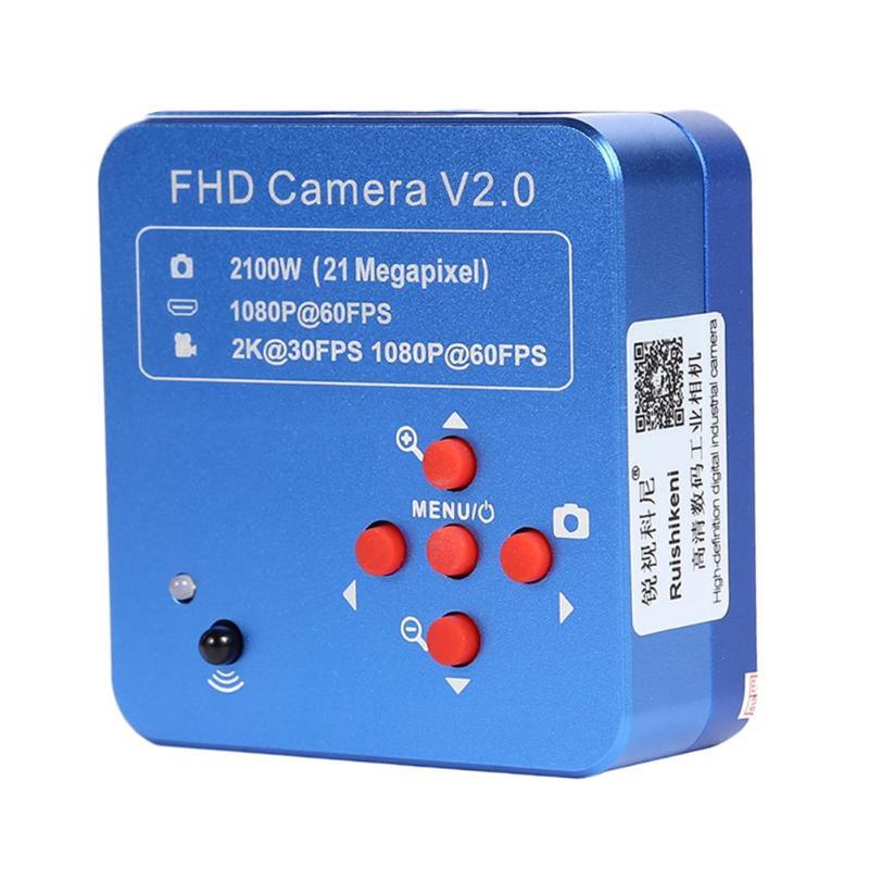 Full HD 1080P 21MP HDMI USB Industrial Electronic Digital Video Microscope Camera For Phone CPU PCB Repair(China)