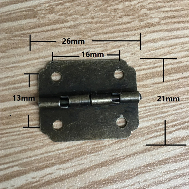 Small Cabinet Door Hingedoor Butt Hinges For Diy Box4 Holes Bronze