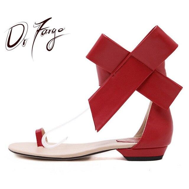 3bb2a6366833 DRFARGO/Новые Модные женские сандалии на низком каблуке с большим цветком и  черным ...