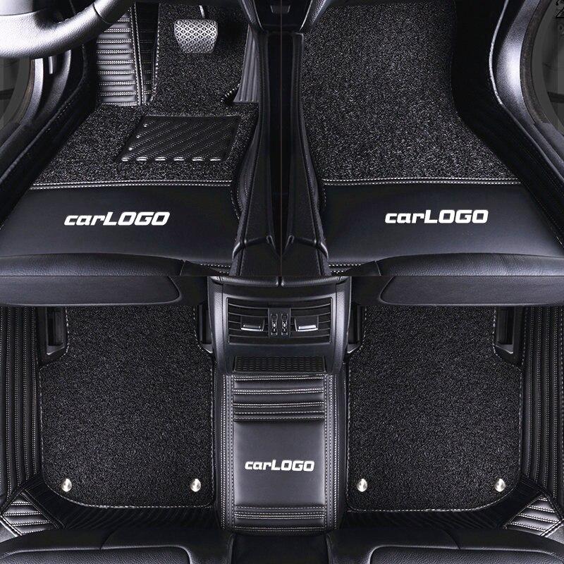 Luxury Custom Car Floor Mat With Car LOGO for BMW X1 F48 X3 E83 F25 G01 X4 X5 E53 E70 X6 M4 M5 M6 F10 520D F11 F36 2010 2012 20