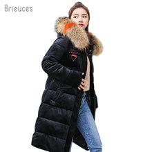 Brieuces 2018 winter jacket women thick warm outwear coat Velvet long parkas hooded jaqueta feminina inverno